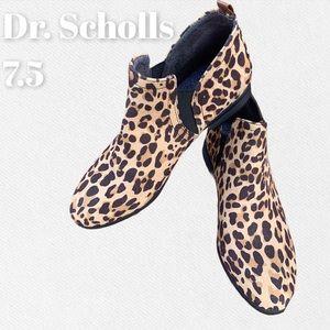 Dr. Scholl's Foam Comfort Brown Cheetah Booties